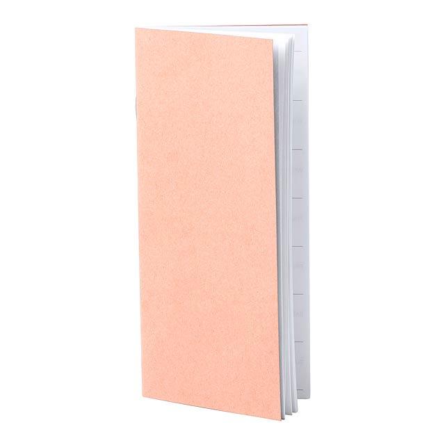 Diář z recyklovaného papíru s 26 týdenními plánovacími listy. - multicolor - foto