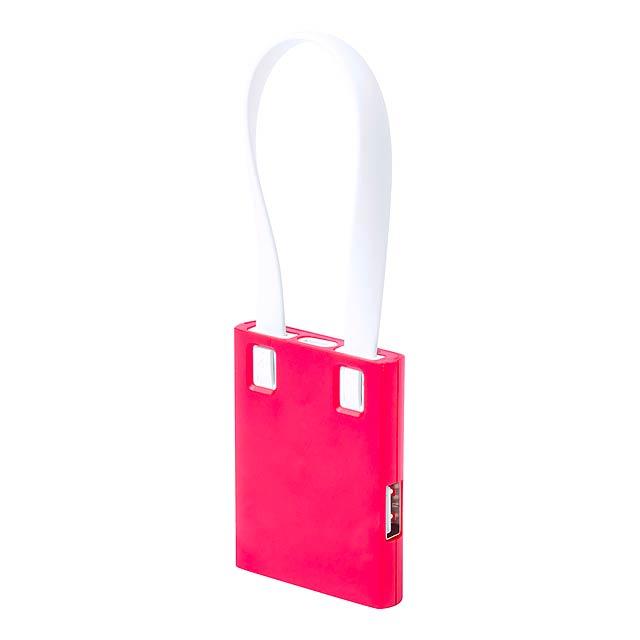 Yurian USB hub - červená