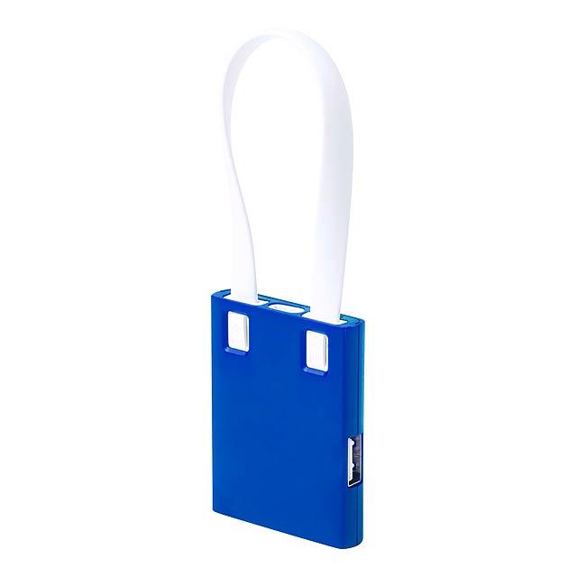 Yurian USB hub - modrá