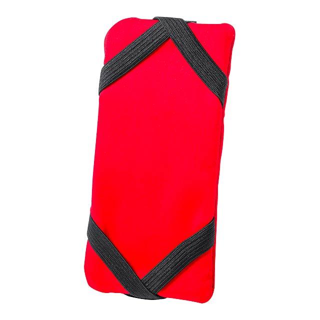 Donic peněženka se stojánkem na mobil - červená