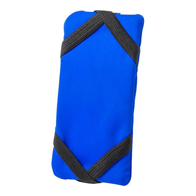Donic peněženka se stojánkem na mobil - modrá