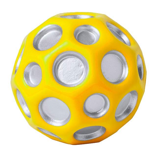 Antistresový míč z PU pěny. - žlutá - foto