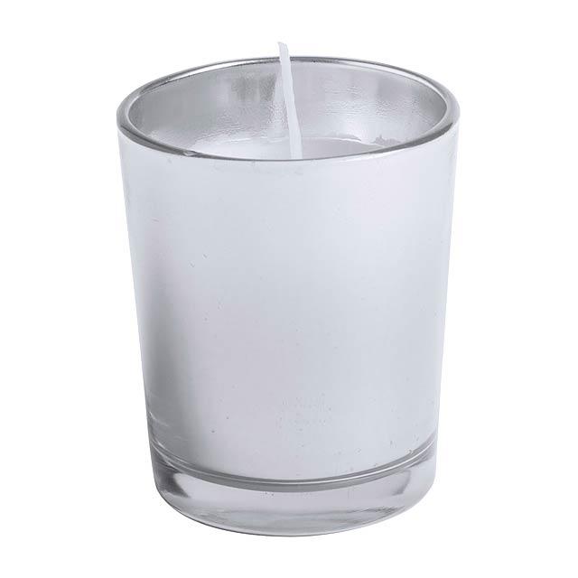 Nettax vonná svíčka, borovice - stříbrná