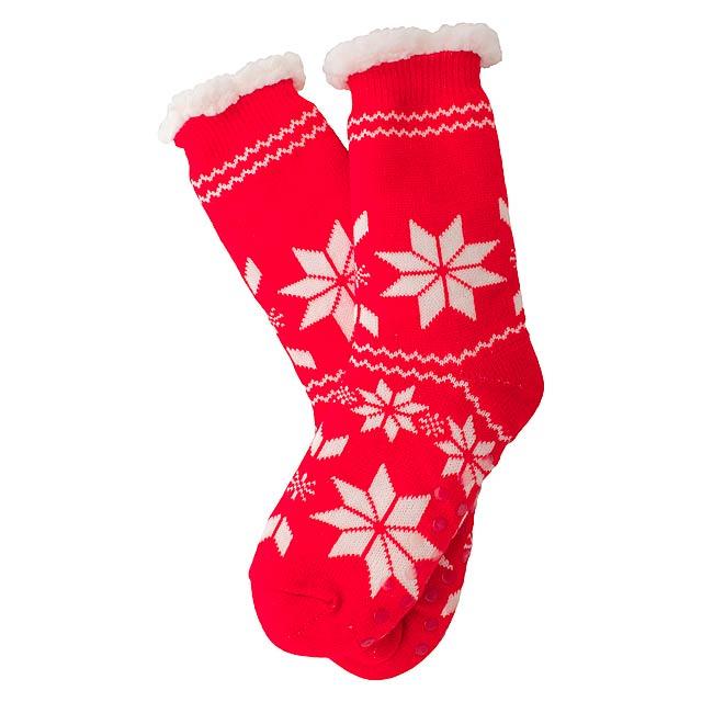 Camiz vánoční ponožky - červená