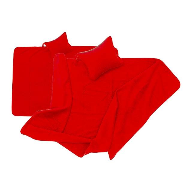 Yelmo přikrývka - červená