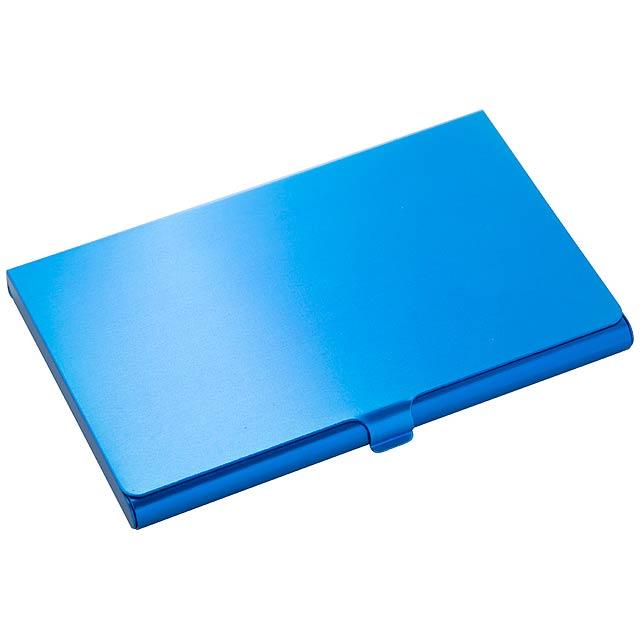 Bonus pouzdro na vizitky - modrá