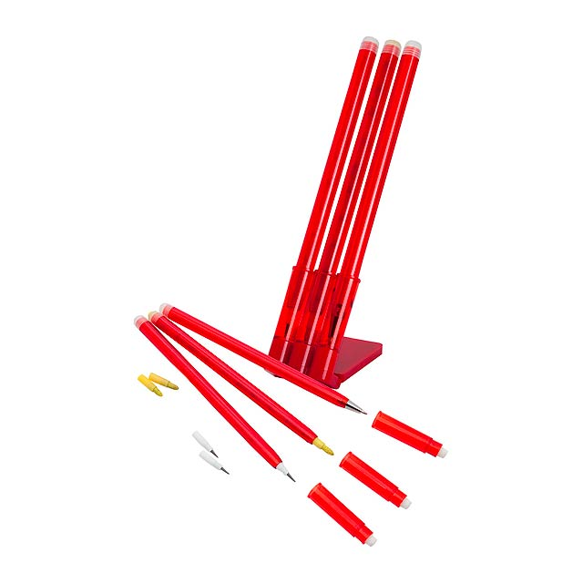 Zibo stojánek s tužkami - červená