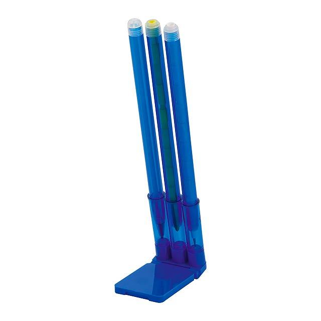 Zibo stojánek s tužkami - modrá