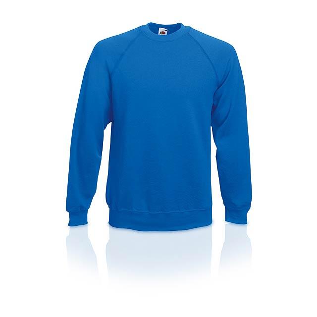 Raglan raglánová mikina - modrá