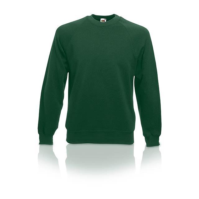 Raglánová mikina, 80% bavlna/20% polyester, 280g/m². - zelená - foto