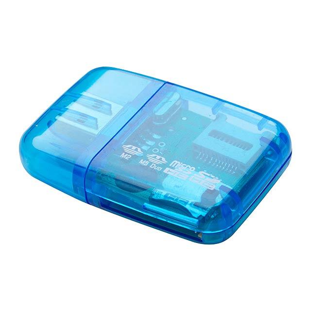 Ares čtečka paměťových karet - modrá