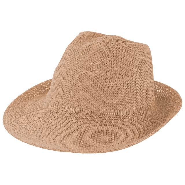 Timbu slámový klobouk - béžová