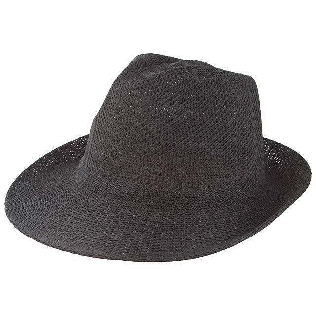Timbu slámový klobouk - černá