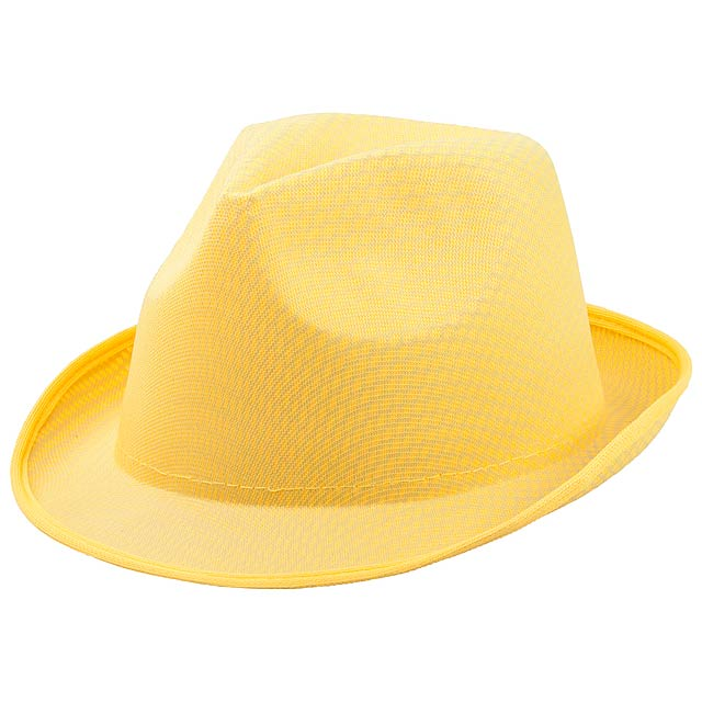 Klobouk - žlutá 0a144cf2a4