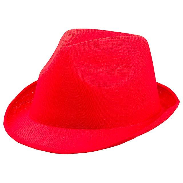 Braz klobouk - červená