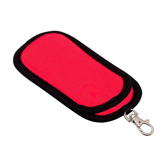 Fit pouzdro na flash disk - červená