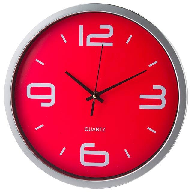 Cronos nástěnné hodiny - červená