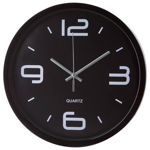 Cronos nástěnné hodiny - čierna