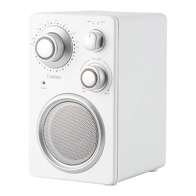 Tuny rádio - biela