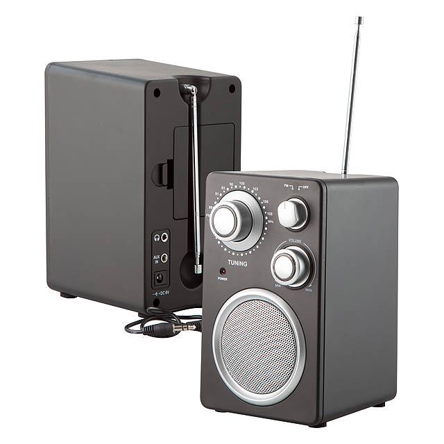 Tuny rádio - čierna