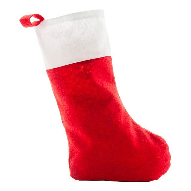 Saspi  vánoční punčocha - červená