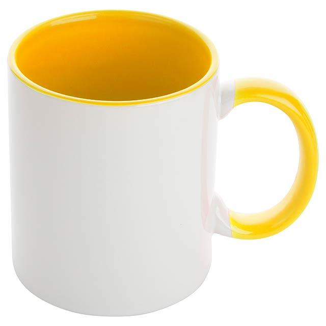 Harnet hrnek na sublimaci - žlutá