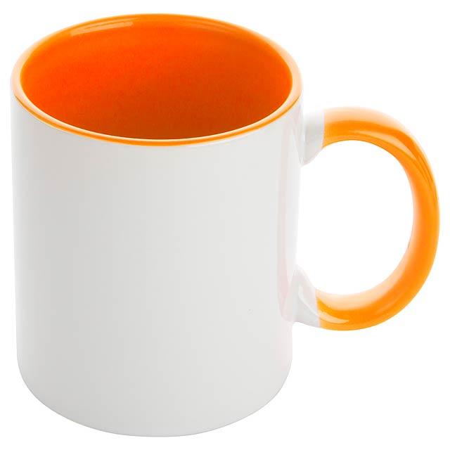 Harnet hrnek na sublimaci - oranžová