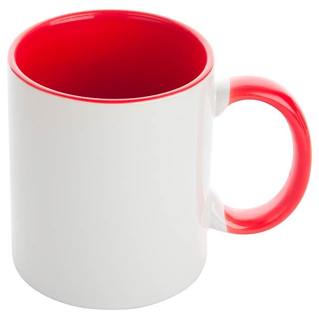 Harnet hrnek na sublimaci - červená