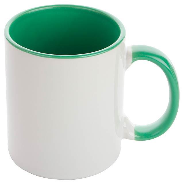 Harnet hrnek na sublimaci - zelená