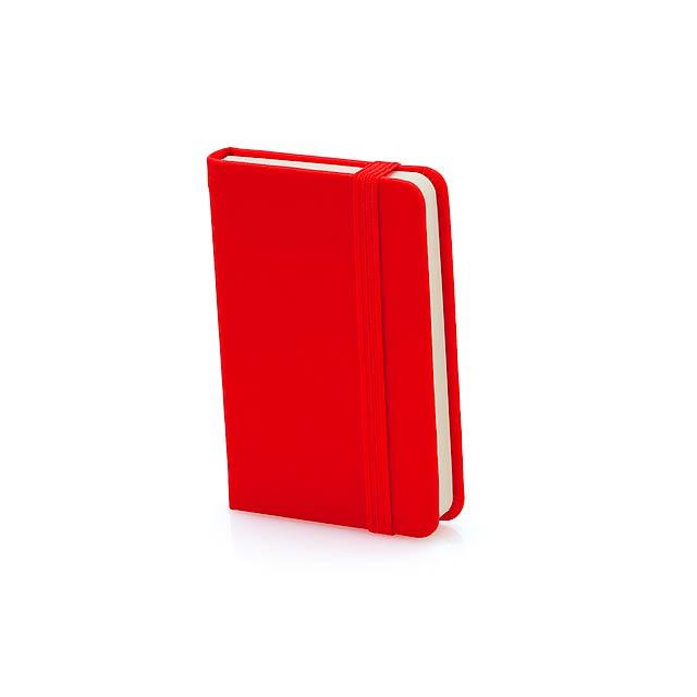 Minikine poznámkový blok - červená