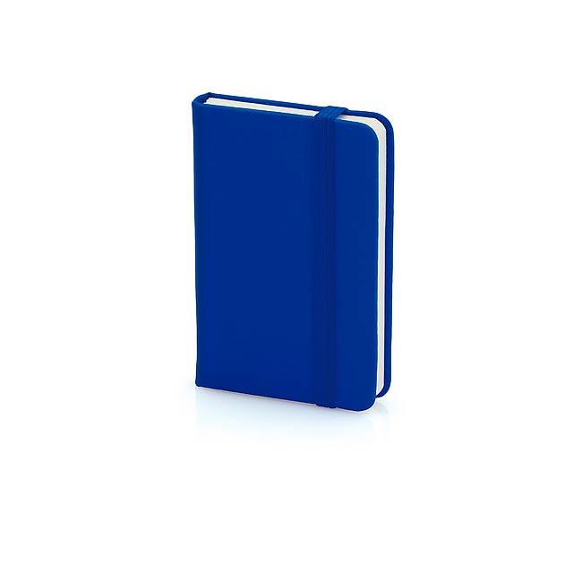 Minikine poznámkový blok - modrá