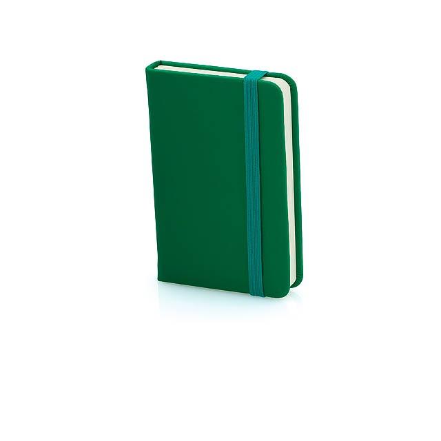 Minikine poznámkový blok - zelená