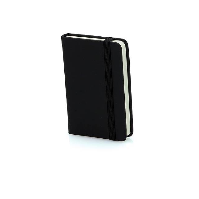 Minikine poznámkový blok - černá