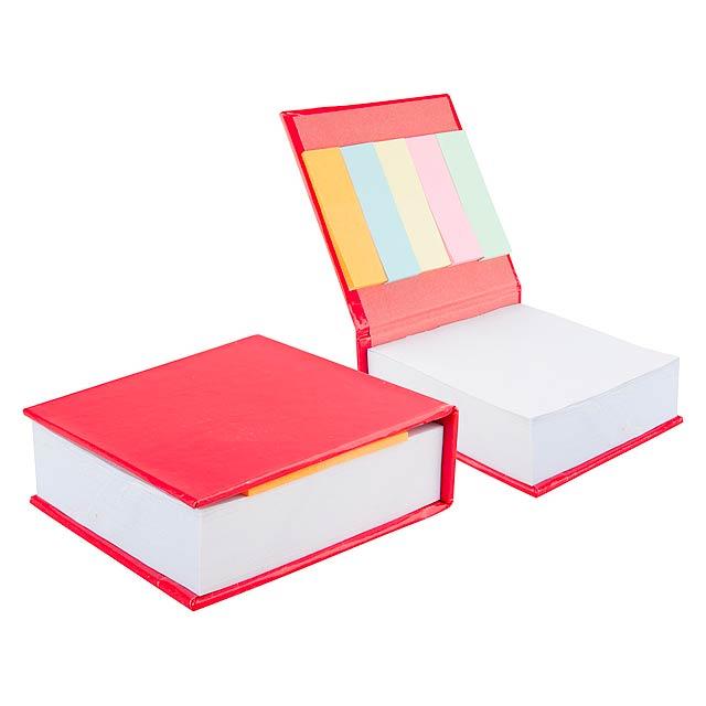 Codex poznámkový blok - červená
