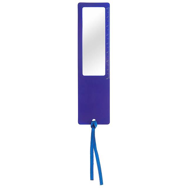 Okam pravítko s lupou - modrá