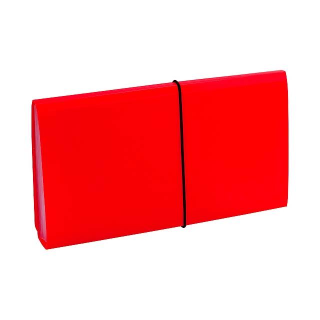Lemek obal na dokumenty - červená