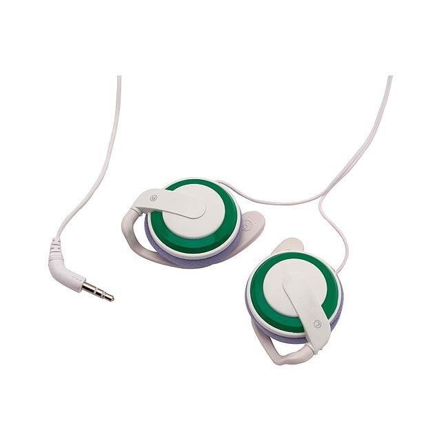 Dino sluchátka - zelená