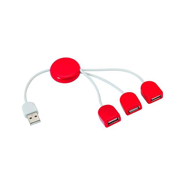 POD  USB hub - červená