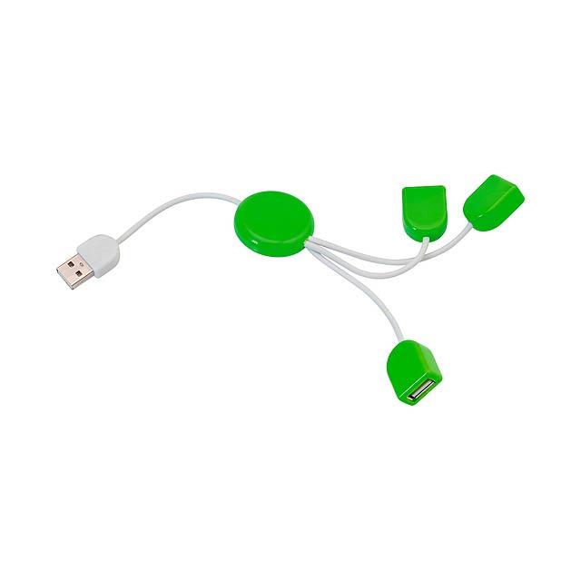 POD  USB hub - zelená