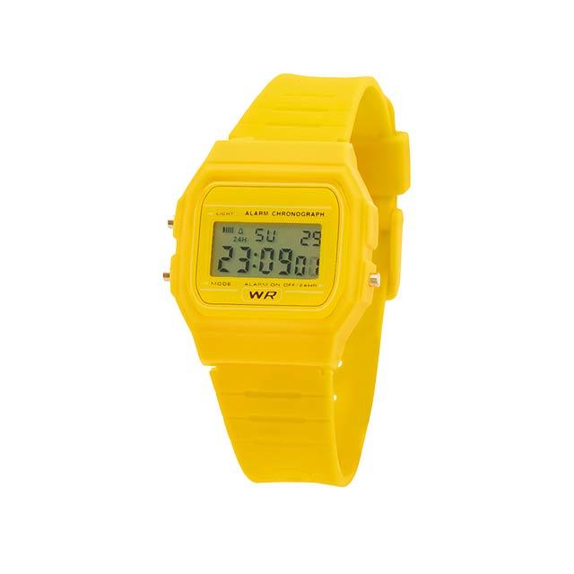 Kibol hodinky - žlutá