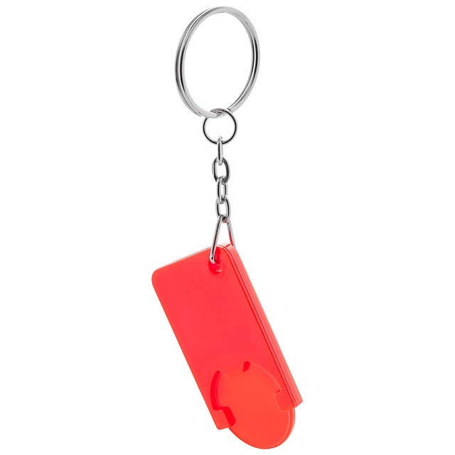Coin keyring - red