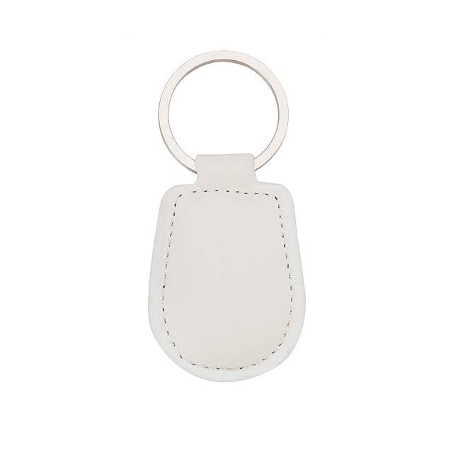Pelcu přívěšek na klíče - bílá