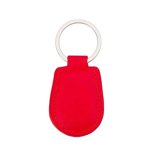 Pelcu přívěšek na klíče - červená
