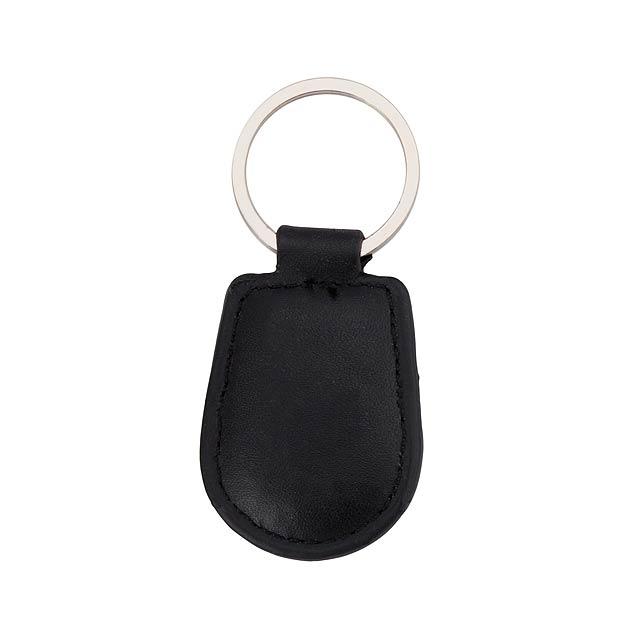 Pelcu přívěšek na klíče - černá
