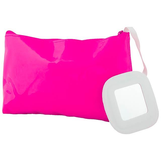 Xan kosmetická taška - fuchsiová (tm. růžová)