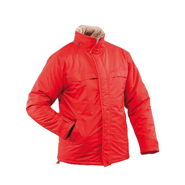 Zylka parka bunda - červená