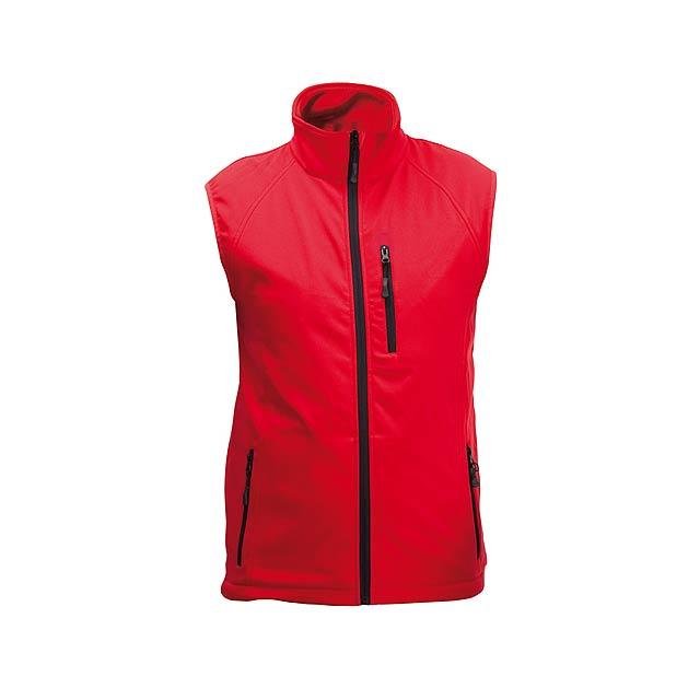 Litman softshellová vesta - červená