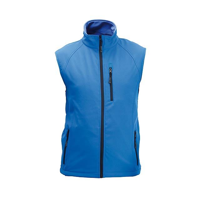 Litman softshellová vesta - modrá