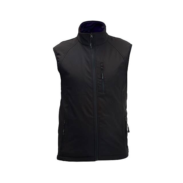 Litman softshellová vesta - černá