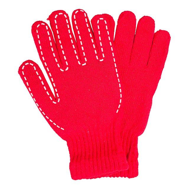 Yaco rukavice - červená